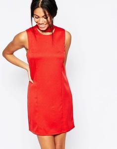 Цельнокройное платье из крепа Influence - Красно-бурый