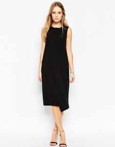 Платье с драпировкой ASOS Column - Черный