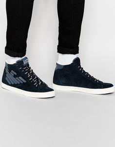 Высокие кроссовки с логотипом EA7 - Синий Emporio Armani