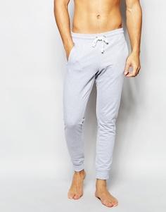 Зауженные штаны для бега с манжетами Bread & Boxers - Серый