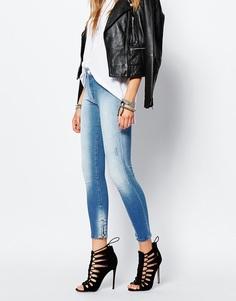 Укороченные джинсы с молниями Replay Sherilyn - Синий