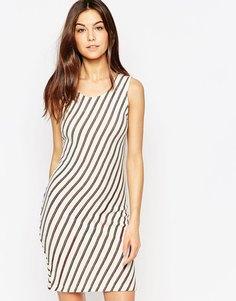 Облегающее платье в полоску без рукавов Vila - Чистый