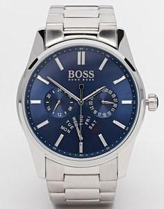 Часы с хронографом и ремешком из нержавеющей стали Hugo Boss - Серебряный