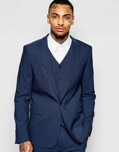 Синий пиджак зауженного кроя ASOS - Синий