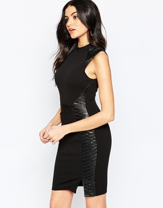 Облегающее платье с высокой горловиной Lipsy - Черный