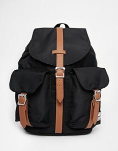 Черный рюкзак с контрастными светло-коричневыми ремешками Herschel Supply Co Dawson
