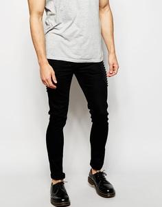 Супероблегающие джинсы с заклепками ASOS - Черный