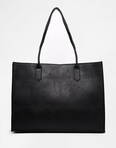 Сумка-шоппер со съемным клатчем ASOS - Черный