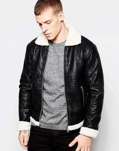Куртка с подкладкой из искусственного меха Minimum - Черный