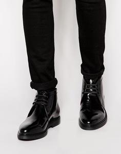 Кожаные ботинки чукка Base London Screw - Черный