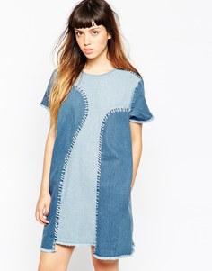 Джинсовое платье-трапеция House Of Holland - Синий