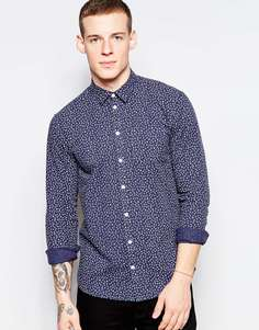 Рубашка с принтом Minimum - Темно-синий