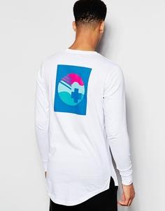 Лонгслив с принтом на спине Pink Dolphin - Белый