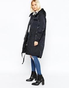 Длинное стеганое пальто Cheap Monday - Черный