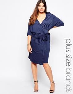 Платье с запахом спереди Junarose - Черный ирис