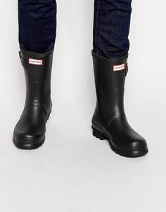 Короткие резиновые сапоги Hunter Original - Черный