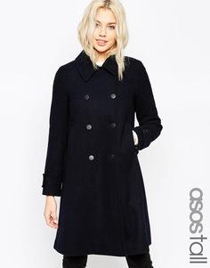 Пальто трапециевидного кроя ASOS TALL - Темно-синий