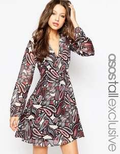 Платье с принтом пейсли ASOS TALL - Мульти