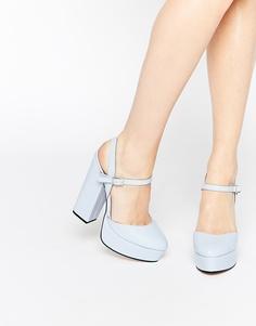 Туфли на платформе ASOS PROSPER - Синий
