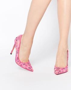Остроносые туфли на каблуке с заклепками ASOS PARAMOUNT - Розовый