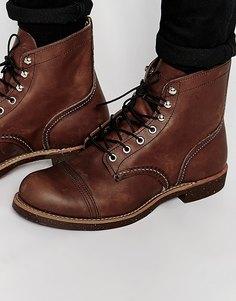Кожаные ботинки Red Wing Iron Ranger - Коричневый