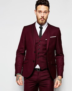 Пиджак зауженного кроя Heart & Dagger - Burgundy