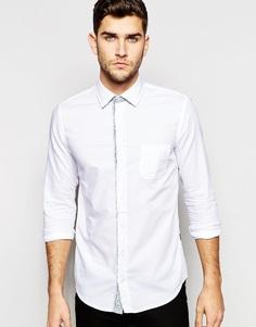Оксфордская рубашка кроя слим BOSS Orange - Серый