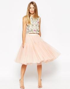 Балетная юбка-пачка из тюля Needle & Thread - Розовое цветение