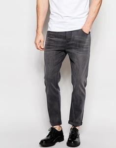 Суженные книзу джинсы из эластичного денима серого цвета ASOS - Умеренный серый