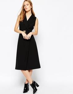 Платье-смокинг с запахом Lost Ink - Черный