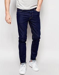 Синие джинсы скинни из денима плотностью 12,5 унц. ASOS - Классический синий