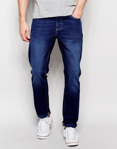 Зауженные темно-отбеленные джинсы ASOS - Темный синий