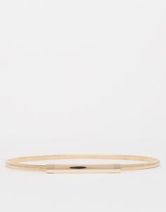 Ремень с металлической цепочкой ASOS - Золотой