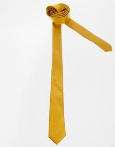 Узкий желтый галстук ASOS - Желтая кокетка