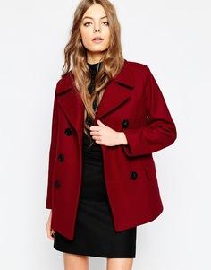 Пальто клюквенного цвета Gloverall Reefer - Cranberry