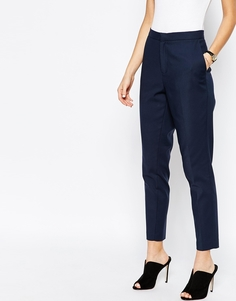 Приталенные брюки скинни Selected Vennie - Navy blazer