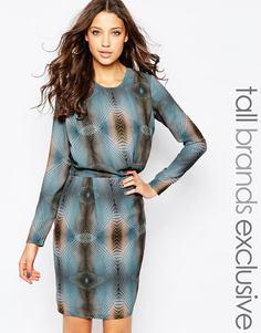 Платье с психоделическим принтом Y.A.S Tall - Мульти
