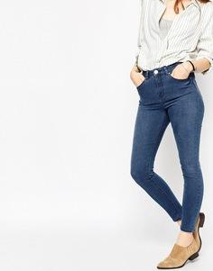 Укороченные облегающие джинсы ASOS Ridley - Темно-синий