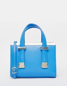 Небольшая кожаная сумка‑тоут с металлической планкой Ted Baker - Светло-голубой