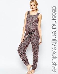 Комбинезон для беременных с завязкой на талии ASOS Maternity LOUNGE - Полоски