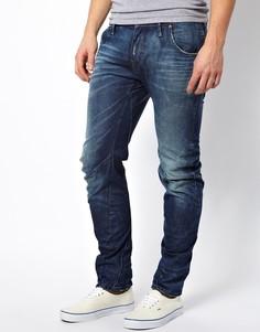 Узкие джинсы слим с состаренным эффектом G Star Arc 3D Lexicon - Синий