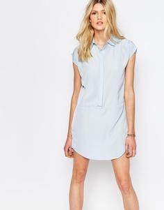 Платье-рубашка без рукавов Vero Moda - Кашемировый синий