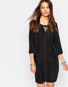 Цельнокройное платье с карманами и рукавами 3/4 Vero Moda - Черный