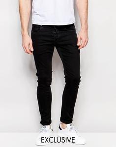Черные суперзауженные джинсы G-Star BeRAW эксклюзивно для Asos Jeans 3301-A - Hyto black (черный)