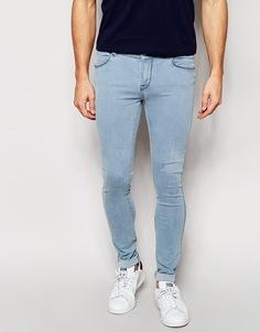 Супероблегающие светлые джинсы Dr Denim Dixy - Светлый выбеленный