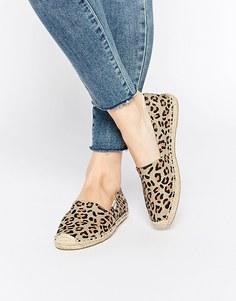 Леопардовые эспадрильи на плоской подошве Soludos Original - Леопардовый принт