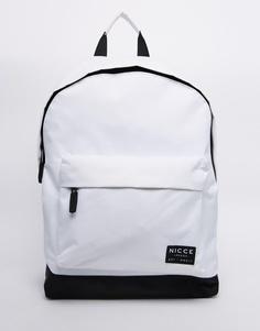 Белый рюкзак с логотипом Nicce - Белый