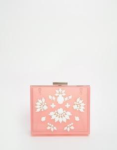 Розово‑пастельный клатч‑футляр Skinnydip - Розовый