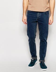 Синие мраморные джинсы слим Dr Denim Clark - Тускло-голубой