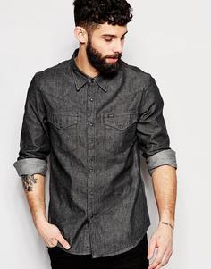 Серая джинсовая рубашка в стиле вестерн Lee - Серый